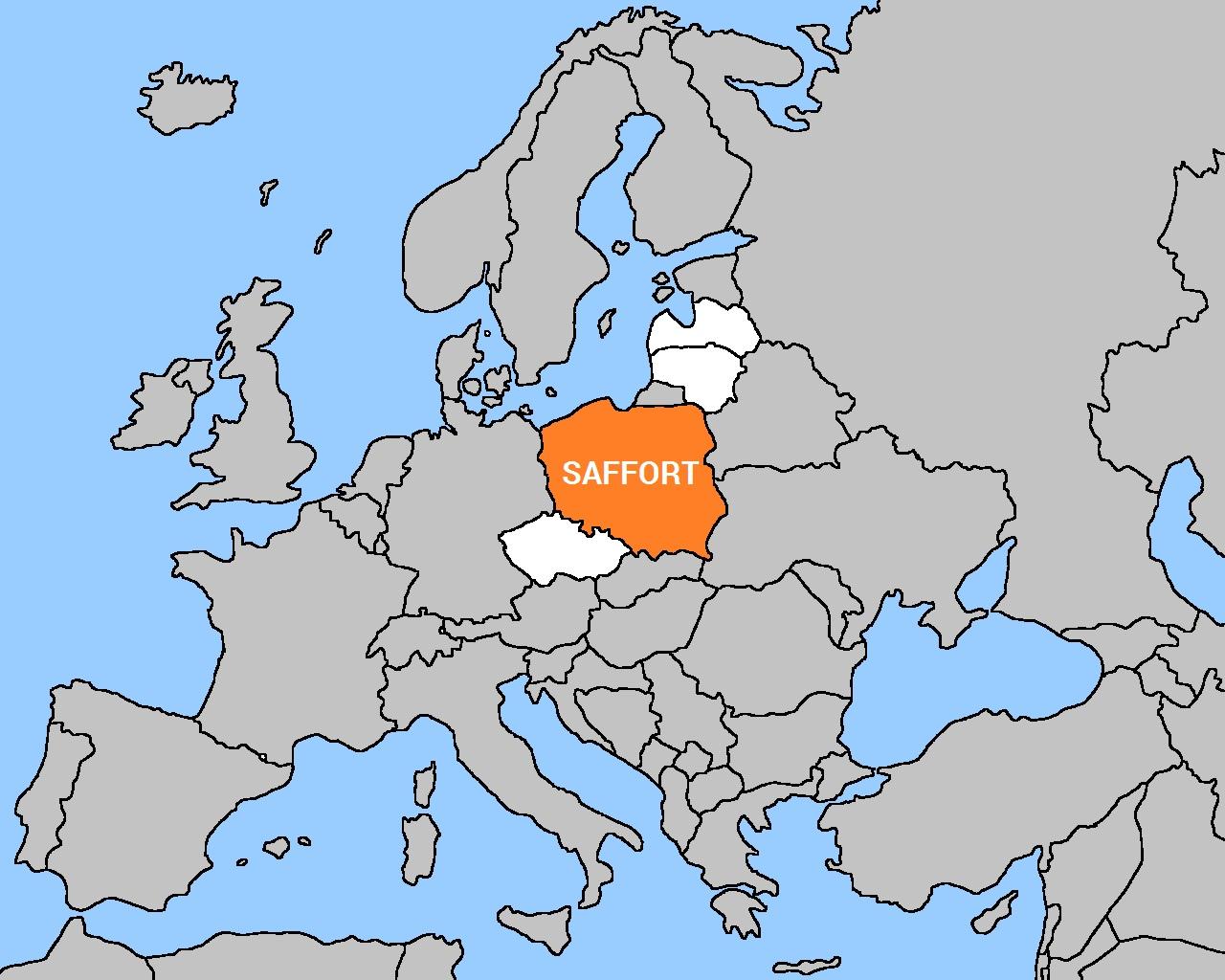 Saffort plečiasi - Lenkija