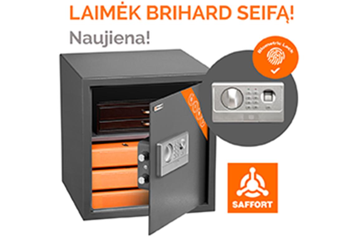 Seifų asortimento papildymas - nauji BRIHARD PROTECTOR seifų modeliai